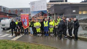 Heismontørenes Fagforening aksjonerte onsdag på Åsane Videregående skole